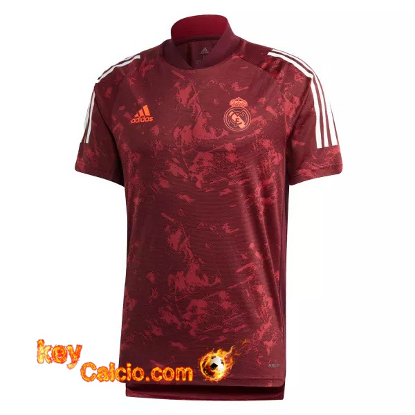 T Shirt Allenamento Real Madrid Rosso 20/21